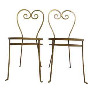 Metal French Regency Side Chairs - A Pair