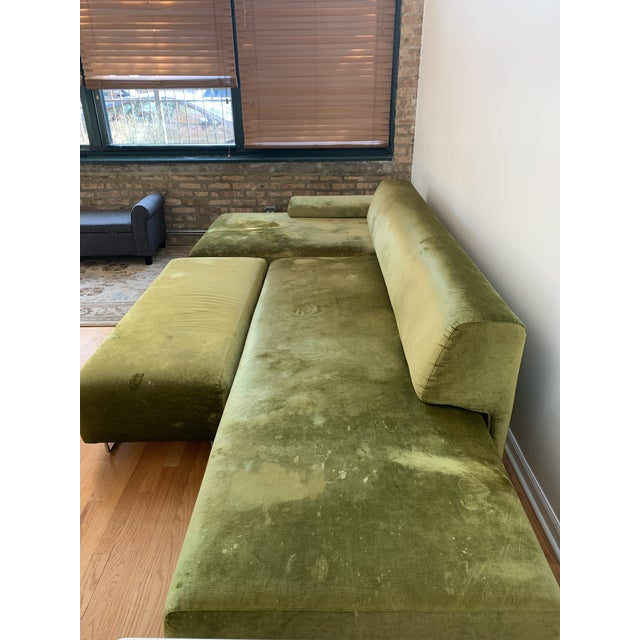 Contemporary Moroso Lowland Sofa With Ottoman & Side Table For Sale - Image 3 of 8