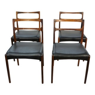 Original Danish Mid Century Johannes Andersen Rosewood Dining Chairs - Set of 4
