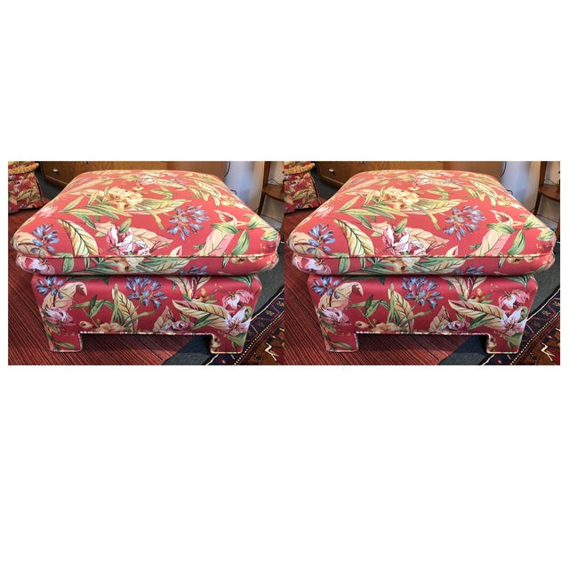Marge Carson Ottomans - A Pair - Image 11 of 12