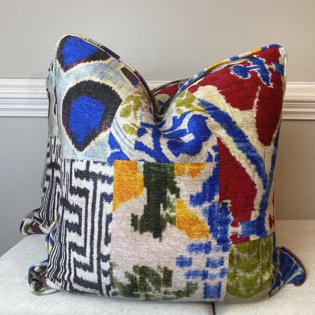 """Textile """"Haute Bohemian"""" in Red 22"""" Pillows-A Pair For Sale - Image 7 of 10"""