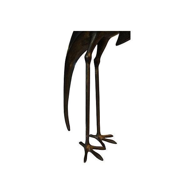 Vintage Bronze Bird Sculpture - Image 6 of 7