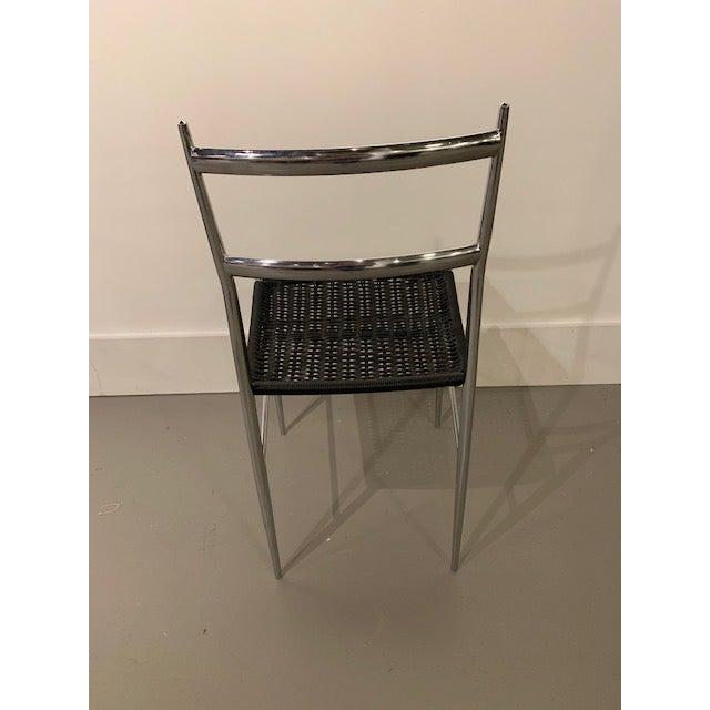 Hollywood Regency Gio Ponti Chrome Frame Leggera Chair For Sale - Image 3 of 4