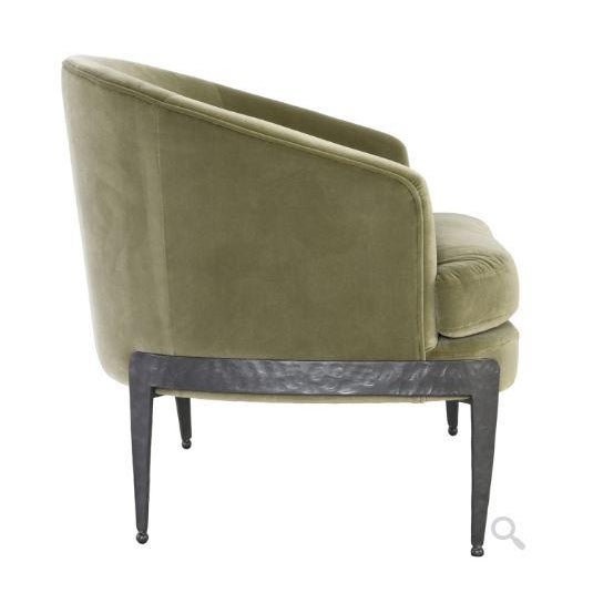 Contemporary Kenneth Ludwig Chicago Aurelia Green Velvet Chair For Sale - Image 3 of 5