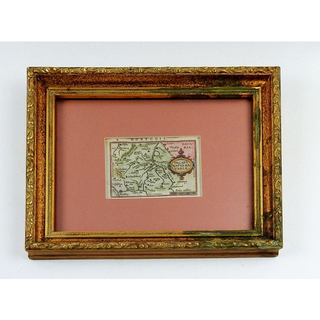 Gothic 1603 Miniature Map of Bavaria For Sale - Image 3 of 3