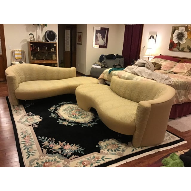 Weiman Golden Upholstered Sofas - A Pair For Sale - Image 11 of 11