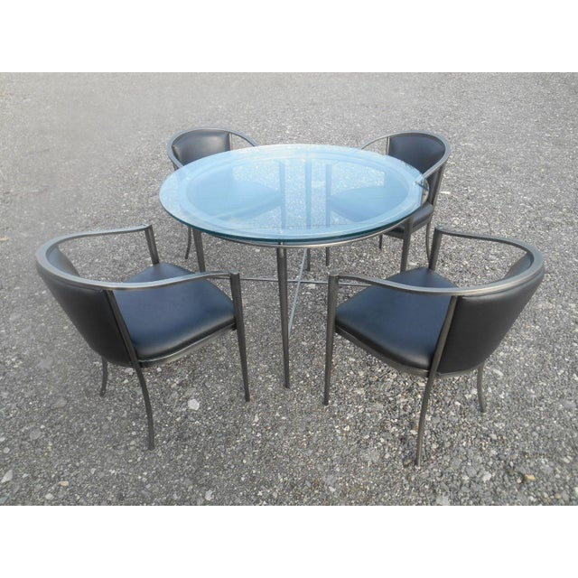 Black 1970s Modern Design Institute America Nickel Dining Set - 5 Pieces For Sale - Image 8 of 8