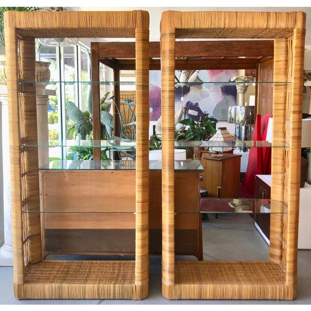 Pair Rattan Etageres From 70's For Sale - Image 10 of 10
