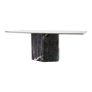 Italian Tapered Marble Dining Table For Sale