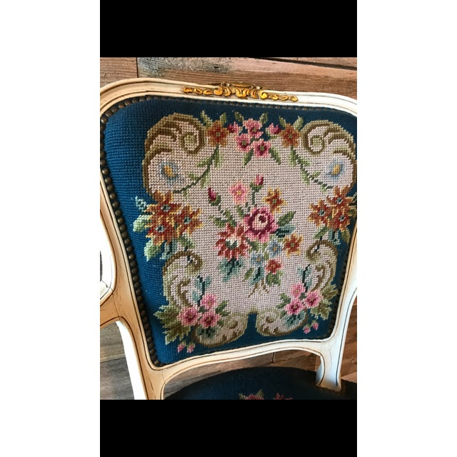 French Needle Point Arm Chair (2 Available) - Image 4 of 6