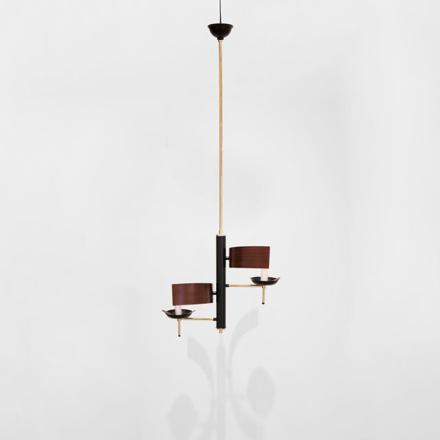 Stilnovo, Two Lights Chandelier, C. 1960 For Sale In Los Angeles - Image 6 of 7