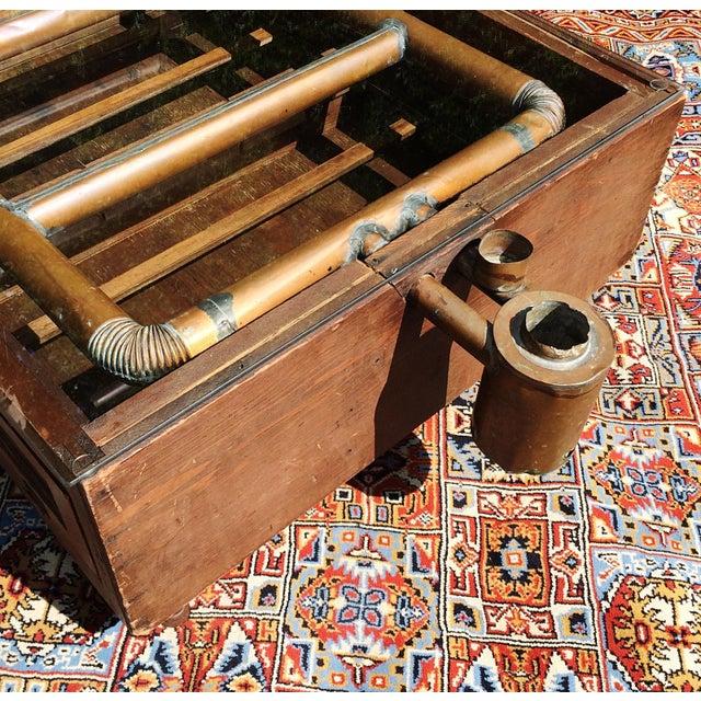 Primitive Super Hatcher Farm Copper Steam Incubator Farmhouse Coffee Table - Image 8 of 10