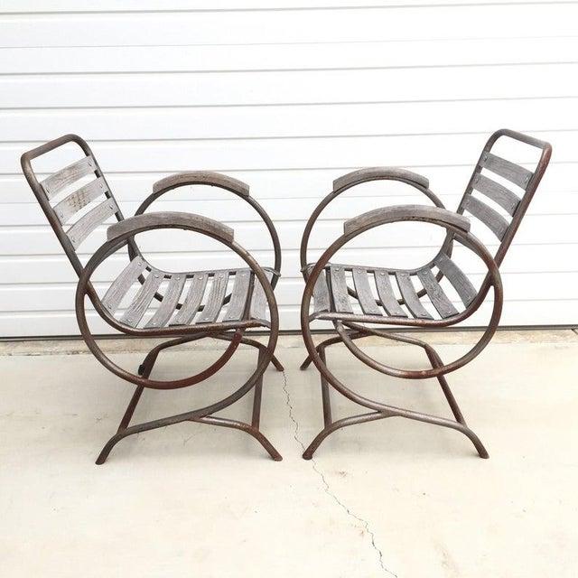 Sensational 1940S Vintage French Garden Chairs A Pair Chairish Inzonedesignstudio Interior Chair Design Inzonedesignstudiocom