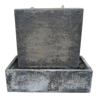 Modern Slate Grey Box Fountain For Sale