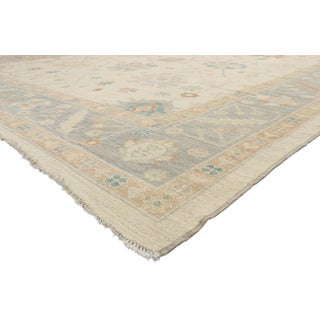Contemporary Oushak Design Transitional Area Rug - 12′ × 15′ Preview