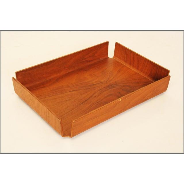 Danish Modern Teak Desk Tray - Image 8 of 11