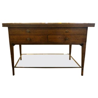 Mid-Century Modern Paul McCobb Flip Top Server Game or Small Dining Table For Sale