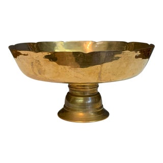 Brass Pedestal Bowl For Sale