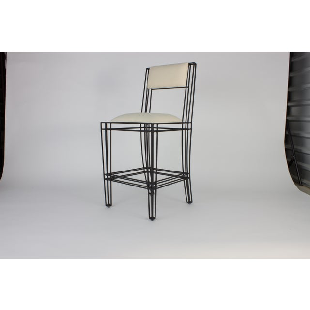Black Iron Counter Height Stools - Set of 4 - Image 2 of 3
