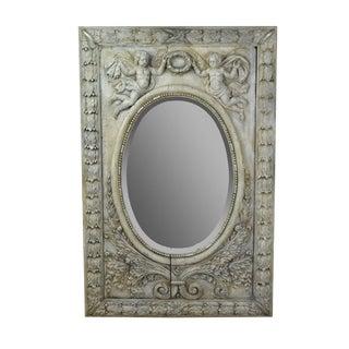 19th Century Cherub Carved Framed Mirror