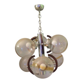 1960s Vintage Italian 4 Light Chandelier For Sale