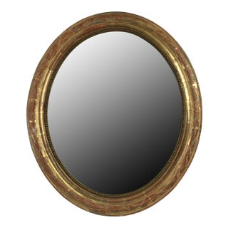 19th c. Louis Philippe Oval Mirror
