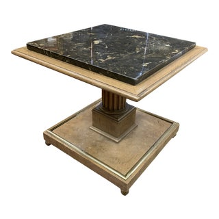 Vintage Mid Century Modern Square Pedestal Table For Sale