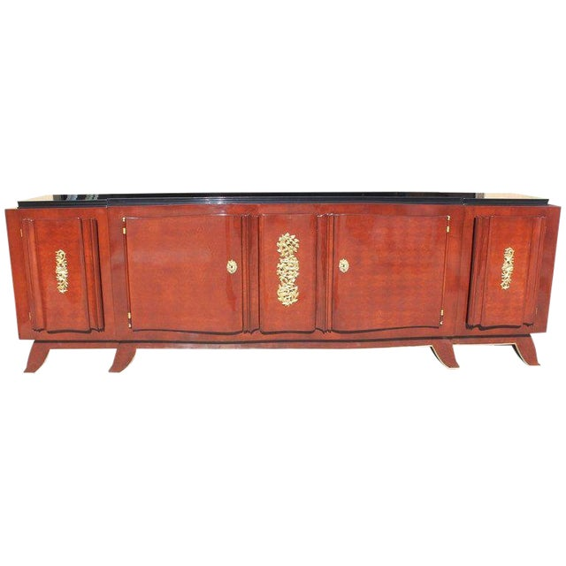 1930s French Art Deco Jules Leleu Rosewood Sideboard For Sale