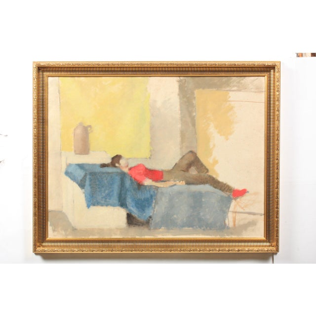 Abstract Composition of Reclined Woman For Sale In Nashville - Image 6 of 6