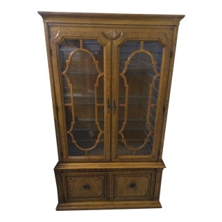 Thomasville Georgian Vintage China Cabinet For Sale