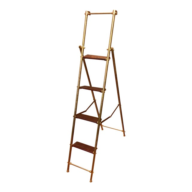 English Folding Library Ladder - Image 1 of 6