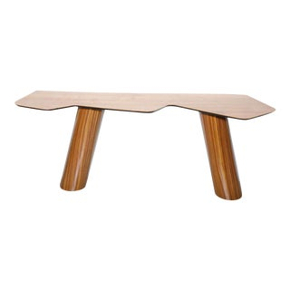 Fine Brazilian Modern Zebrawood and Sycamore Console For Sale