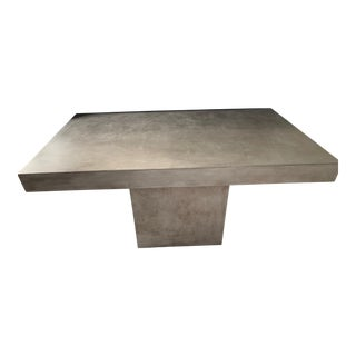 Cb2 Modern Concrete Table For Sale