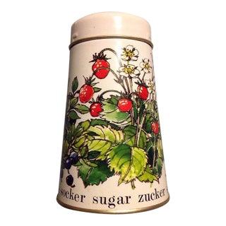 Vintage Strawberries Blueberries Sugar Shaker Tin