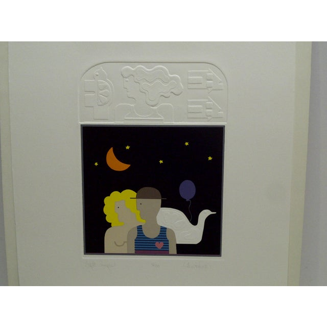 "20th Century Silkscreen Print ""Night Images"" by Christina Parrett For Sale - Image 4 of 9"