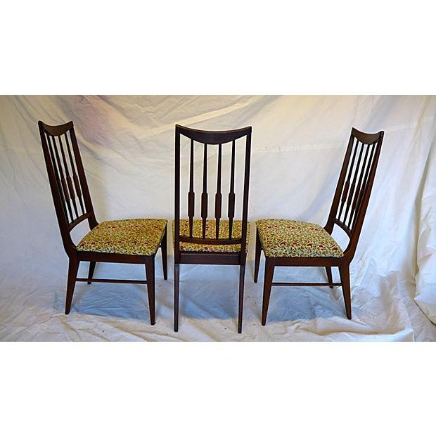 1950s Mid-Century Reed-Back Dining Chairs - Set of 4 For Sale - Image 5 of 8