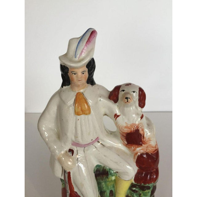 Cottage 19th C. English Staffordshire Figure For Sale - Image 3 of 6