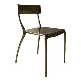 Vintage CB2 Midas Gold Indoor/Outdoor Dining Chair