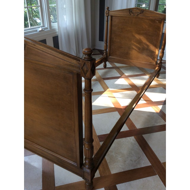 Wood 19th Century French Empire Walnut Bedframe For Sale - Image 7 of 13