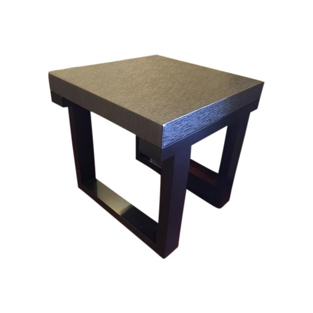 Black Lacquer End Table - Image 1 of 4