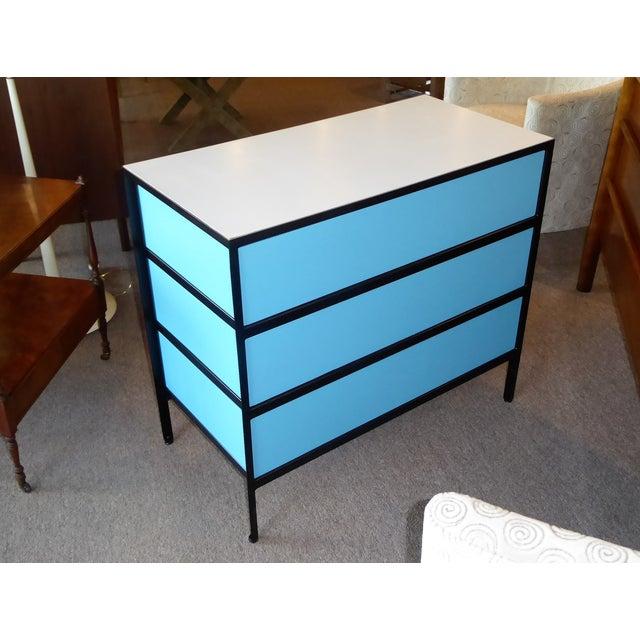 1960s George Nelson Mid-Century Modern Steel Frame Blue and Black Dresser for Herman Miller, 1960s For Sale - Image 5 of 13