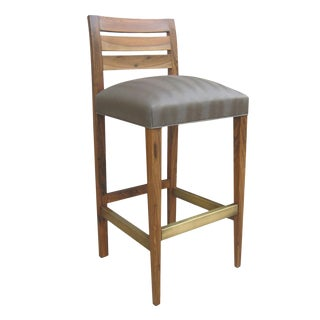Contemporary Costantini Solid Rosewood Renzo Stool For Sale