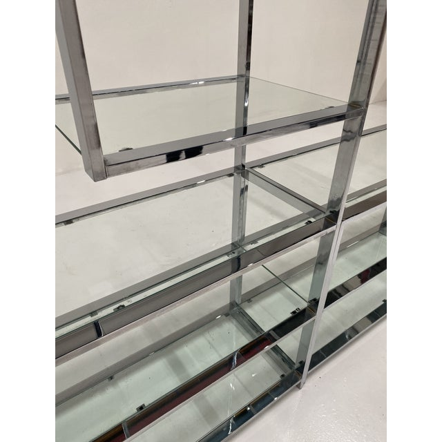 1970s Milo Baughman Style Chrome Etagere For Sale - Image 10 of 13