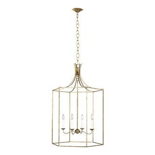 Alexa Hampton by Generation Lighting Bantry House Large Lantern, Gold For Sale