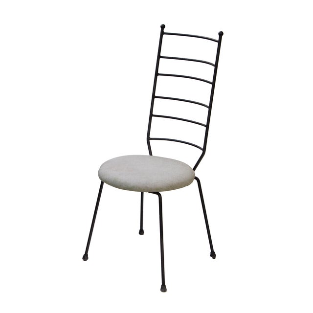 1960s Iron Ladder Back Patio Dining Chairs, S/4 For Sale - Image 5 of 9