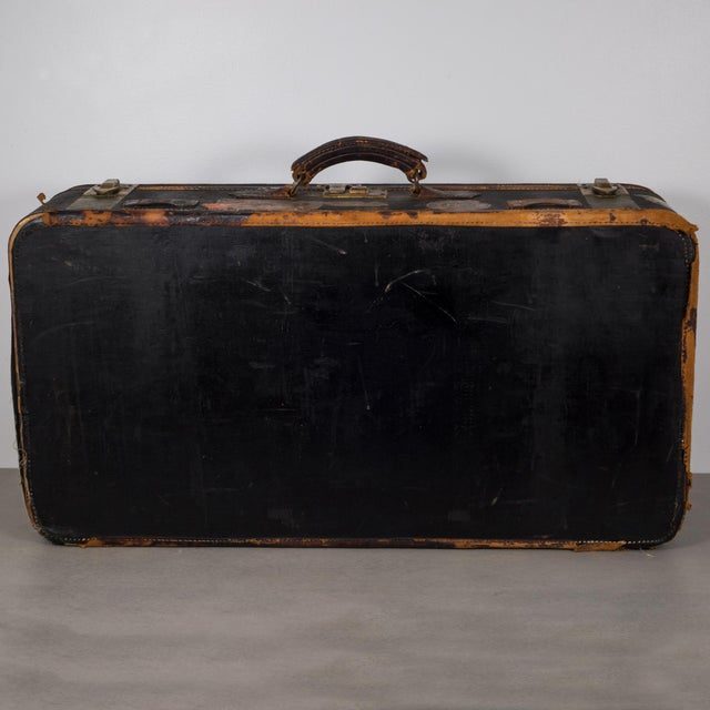 Early 20th Century Antique Luggage With Original Travel Stickers C.1900-1930 For Sale - Image 5 of 11