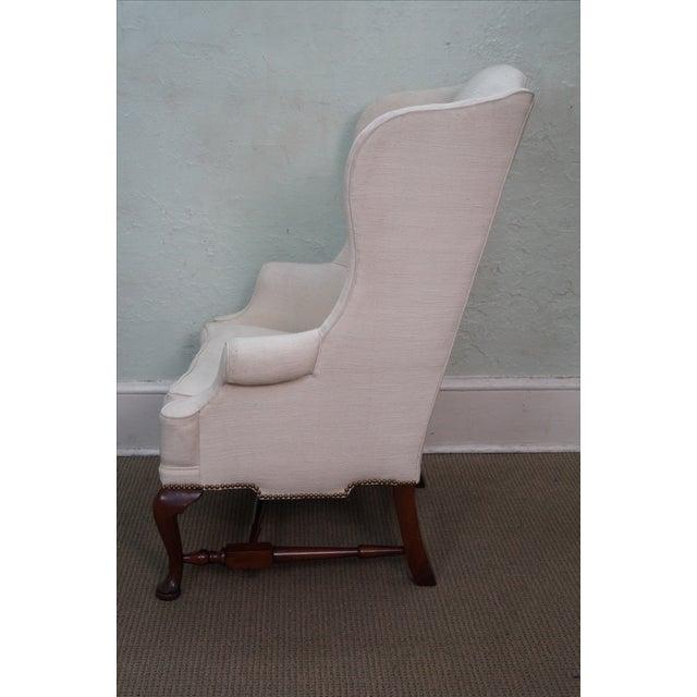Biggs Kittinger Mahogany Queen Anne Wing Chair Chairish