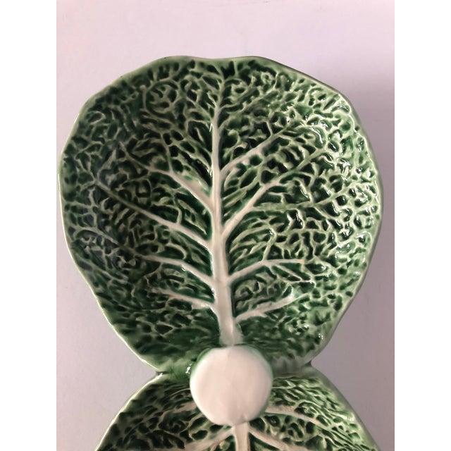 Ceramic Vintage Bordallo Pinheiro Cabbage Serving Dish For Sale - Image 7 of 11