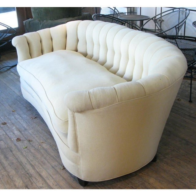 Vintage 1940s Button Tufted Sofa For Sale - Image 4 of 7