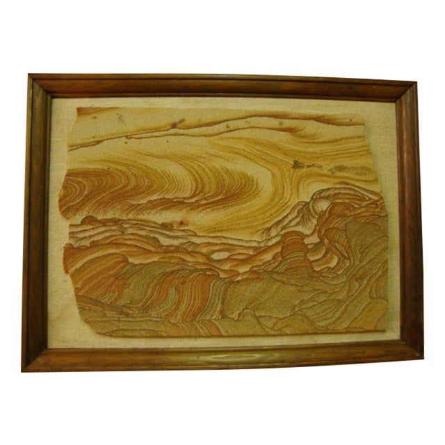 Mid-Century Sandstone Slab Wall Art - Image 1 of 5